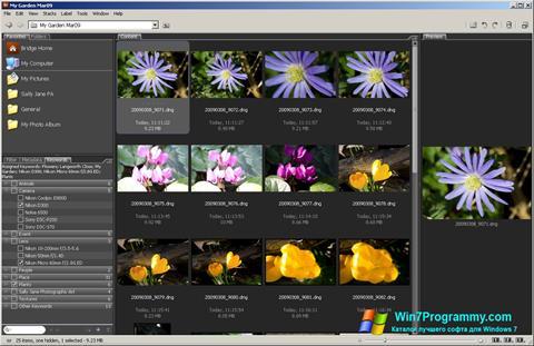 Скриншот программы Adobe Bridge для Windows 7