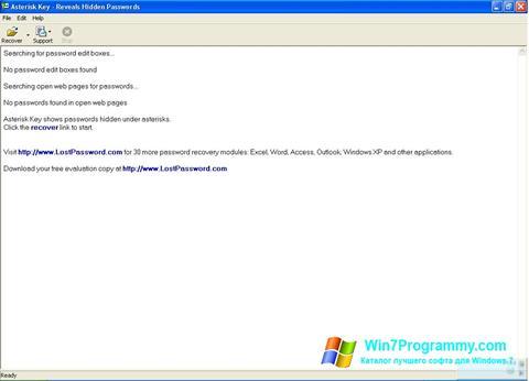 Скриншот программы Asterisk Key для Windows 7
