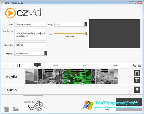 Скриншот программы Ezvid для Windows 7