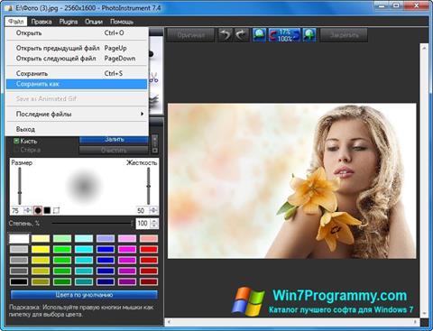 Скриншот программы PhotoInstrument для Windows 7