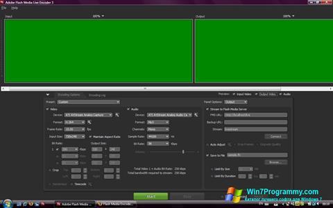 Скриншот программы Adobe Media Encoder для Windows 7