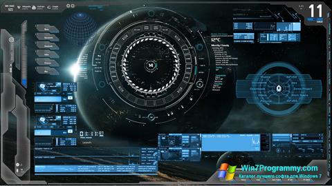 Скриншот программы Rainmeter для Windows 7
