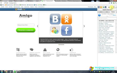 Скриншот программы Амиго для Windows 7