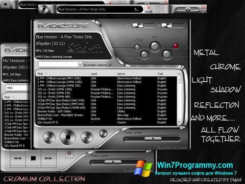 Скриншот программы RadioSure для Windows 7