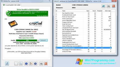 Скриншот программы SSDLife для Windows 7