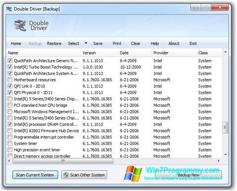 Скриншот программы Double Driver для Windows 7