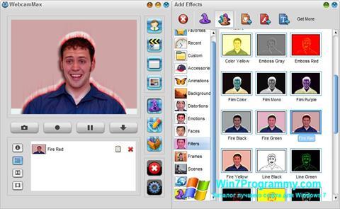 Скриншот программы WebcamMax для Windows 7
