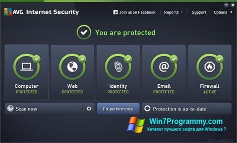 Скриншот программы AVG Internet Security для Windows 7