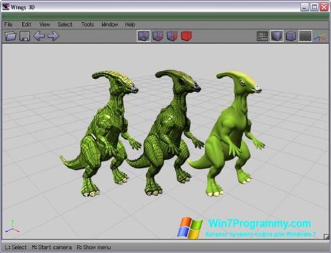 Скриншот программы Wings 3D для Windows 7