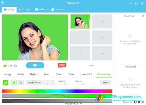 Скриншот программы ManyCam для Windows 7