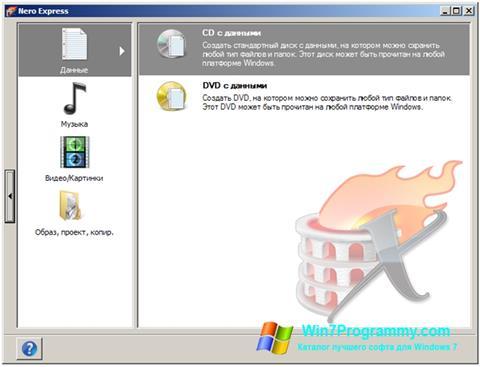 Скриншот программы Nero Express для Windows 7
