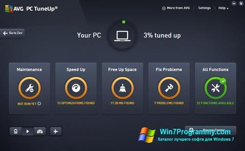 Скриншот программы AVG PC Tuneup для Windows 7