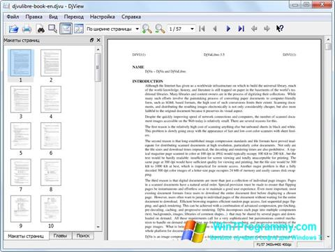 Скриншот программы DjView для Windows 7
