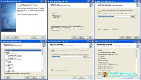 Скриншот программы K-Lite Mega Codec Pack для Windows 7