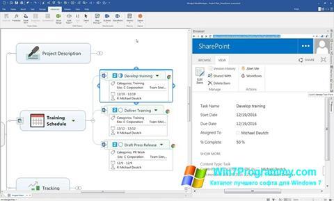 Скриншот программы MindManager для Windows 7