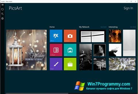 Скриншот программы PicsArt для Windows 7