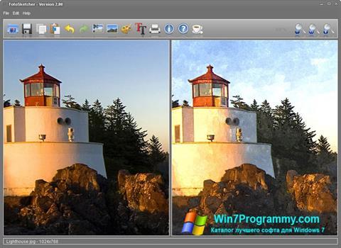 Скриншот программы FotoSketcher для Windows 7
