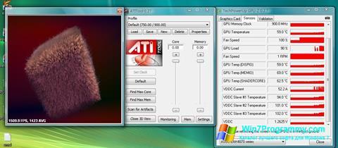 Скриншот программы ATITool для Windows 7