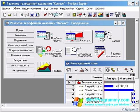 Скриншот программы Project Expert для Windows 7