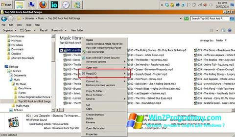 Скриншот программы MagicISO для Windows 7