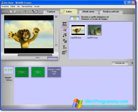 Скриншот программы WinDVD Creator для Windows 7