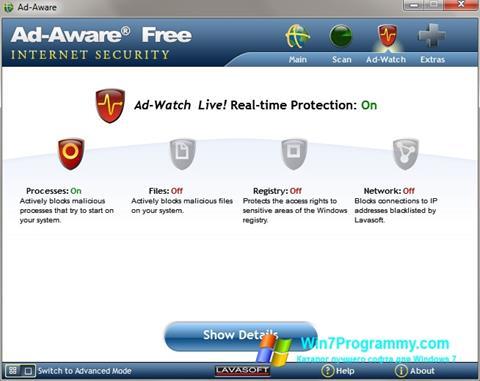 Скриншот программы Ad-Aware для Windows 7
