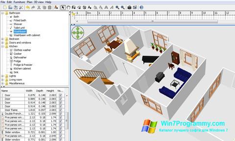 Скриншот программы FloorPlan 3D для Windows 7