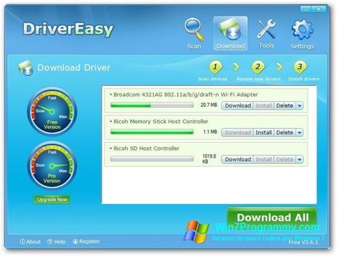 Скриншот программы Driver Easy для Windows 7