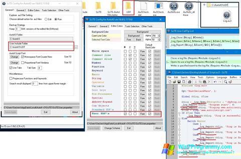 Скриншот программы SciTE для Windows 7