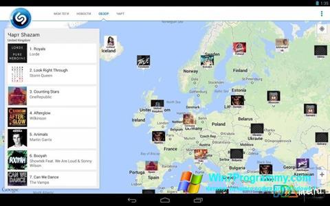 Скриншот программы Shazam для Windows 7