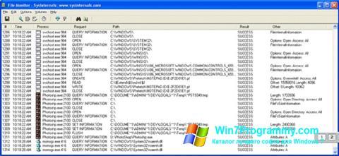 Скриншот программы FileMon для Windows 7