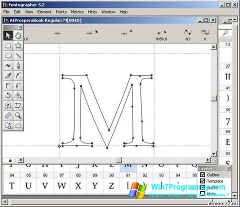 Скриншот программы Fontographer для Windows 7