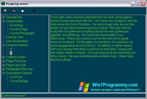Скриншот программы BookReader для Windows 7