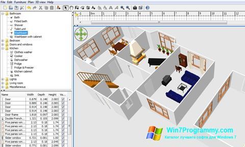 Скриншот программы Sweet Home 3D для Windows 7