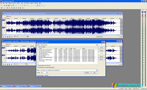 Скриншот программы Sound Forge для Windows 7
