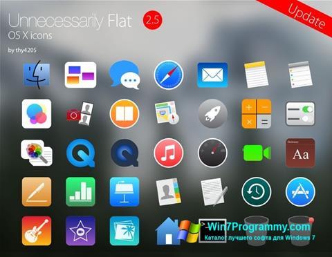Скриншот программы OS X Flat IconPack Installer для Windows 7