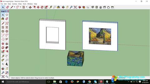 Скриншот программы SketchUp Make для Windows 7