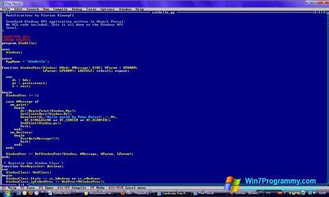 Скриншот программы Free Pascal для Windows 7