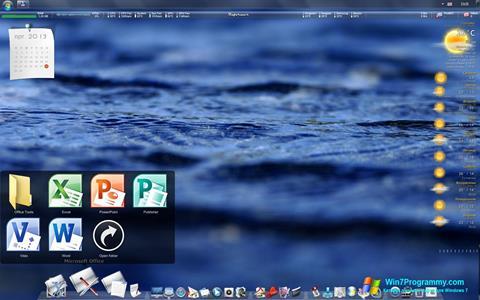 Скриншот программы RocketDock для Windows 7