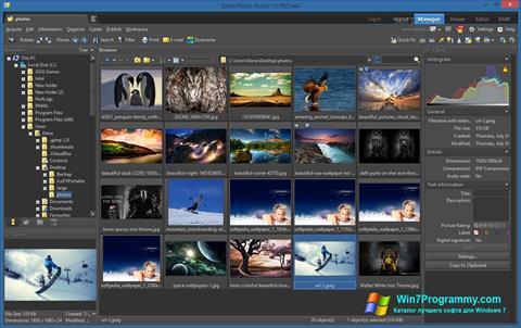 Скриншот программы Zoner Photo Studio для Windows 7