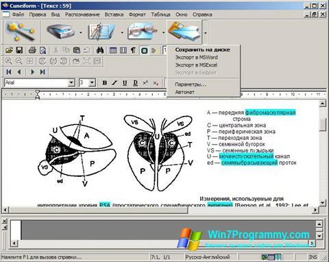 Скриншот программы CuneiForm для Windows 7