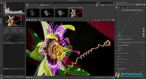 Скриншот программы RawTherapee для Windows 7