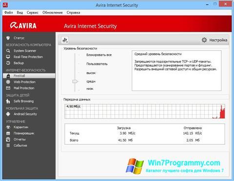 Скриншот программы Avira Internet Security для Windows 7