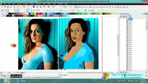 Скриншот программы CorelDRAW для Windows 7