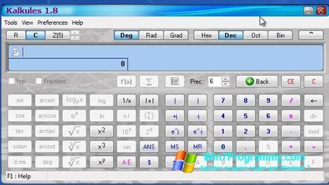 Скриншот программы Kalkules для Windows 7