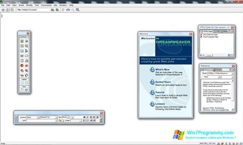 Скриншот программы Macromedia Dreamweaver для Windows 7