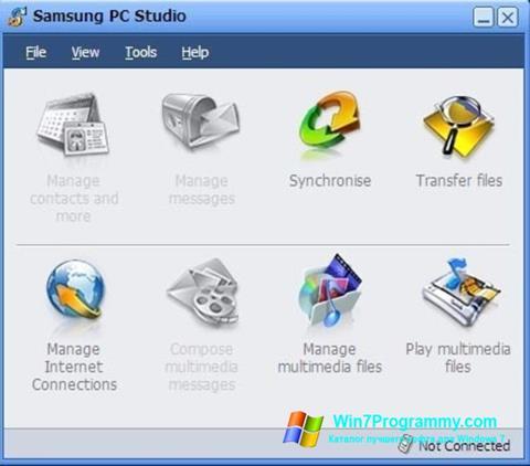 Скриншот программы Samsung PC Studio для Windows 7