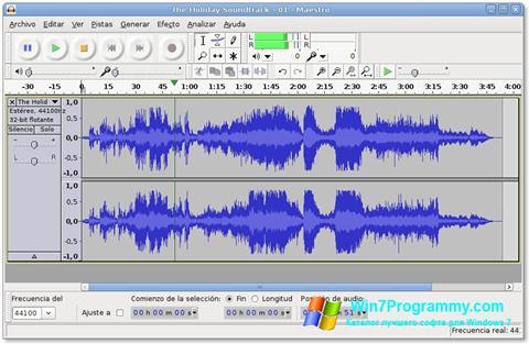Скриншот программы Audacity для Windows 7