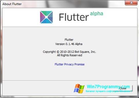 Скриншот программы Flutter для Windows 7