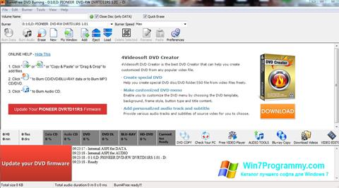 Скриншот программы Burn4Free для Windows 7